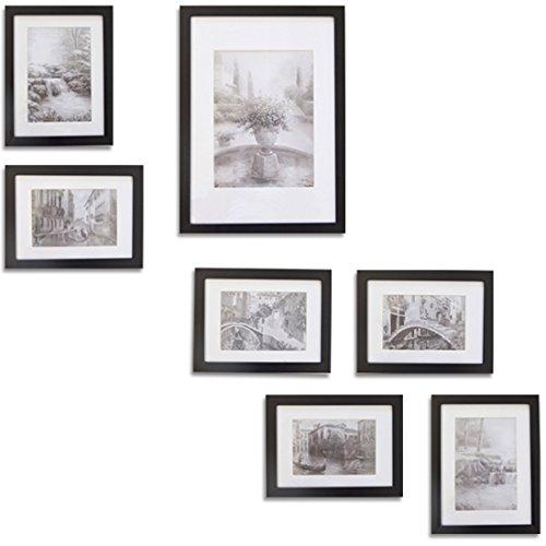 Giftgarden® Cornici per Foto Quadri in Legno Decor Arte della Parete Set di 7
