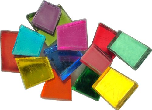 Mosaic Mercantile Glass Crafter's Cut Tiles .5lb-Assorted Mirrors