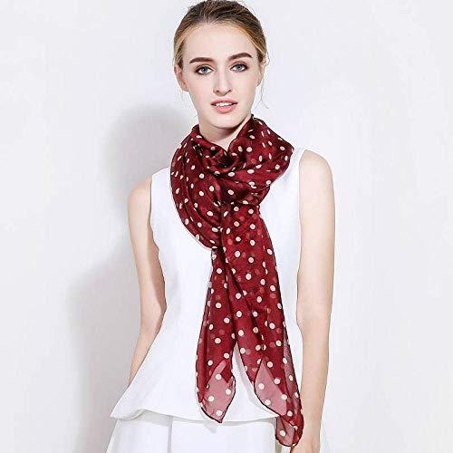 Jiaa Damen Vintage Silk Schals Polka Dot Seide Frühling und Herbst Sommer Sonnencreme Langen Schal vielseitige Damen Vintage Silk Scarves Schal,neun,110 * 180cm