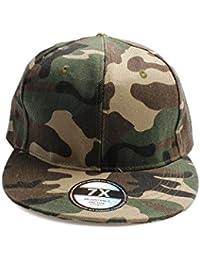 Accessoryo - Bonnet de base unisexe camouflage imprimé avec pic plat