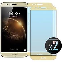 2 x Cristal Templado Protector de Pantalla Para Huawei G8 (GX8) (Gold)- NEVEQ® Vidrio Templado, el Huawei G8 GX8 Full Screen Gold (5.5) Pulgadas piel Protectora de la Cubierta.