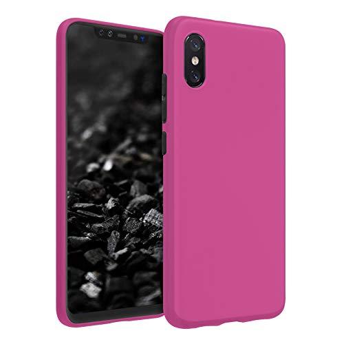 TBOC Funda de Gel TPU Rosa para Xiaomi Mi 8 Pro - Mi8 Pro (6.21 Pulgadas) Carcasa de Silicona Ultrafina y Flexible para Teléfono Móvil [No es Compatible con el [Xiaomi Mi 8] [Xiaomi Mi 8 Lite]]