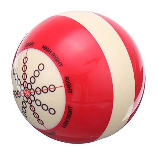 hinffinity Übungs-Billard British American Snooker Übungsball, Weiß/Rot