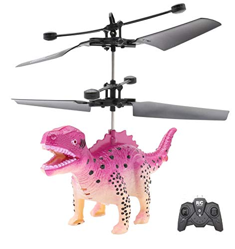 Honkid Dinosaurs Toy, Flying Dinosaurs, fliegendes Toy Remote Control Helicopter with LED Light and Remote Control, Gifts for Girls Kids, Indoor and Outdoor Games