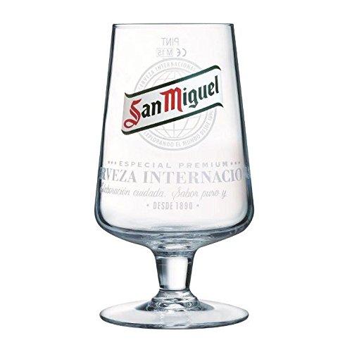 TUFF LUV San Miguel Half Pint Ursprüngliche Bierglas/Gläser / Barbedarf [25cl]