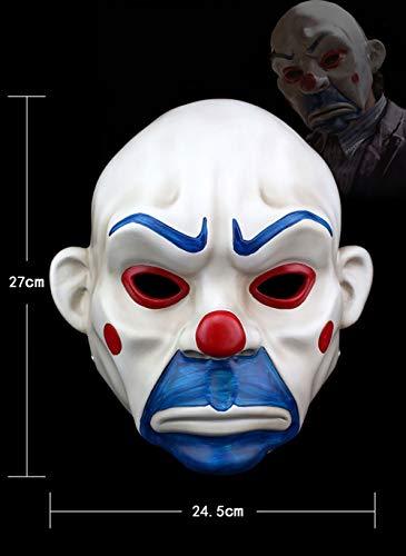 YAJAN-masks Halloween Maske Spielzeug Fünf Sinne Held Dark Clown Bandit Horror Parodie COS Dress Up Prom Kostüm Partei Bequeme Bequeme Persönlichkeit Coole Harz (Make-up Halloween Dark Cool)