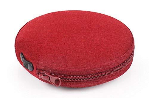 Elezay runde Filz-CD-Hülle Kapazität: 20 CD-Hülle DVD-Aufbewahrung CD-Halter rot