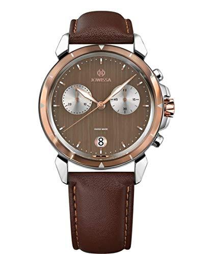 Jowissa LeWy 6 Swiss J7.016.L - Reloj para Hombre, Color marrón y Plateado