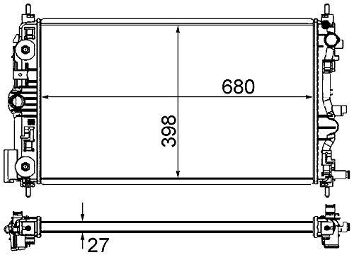 BEHR HELLA SERVICE 8MK 376 759-051  Kühler, Motorkühlung (Chevrolet Cruze Teile)