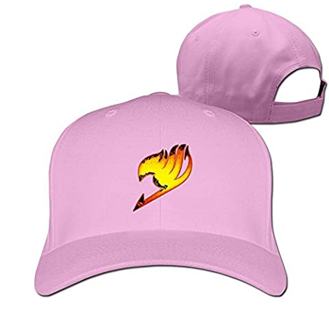 Feruch ZULA Particular Unisex Farily Flame Logo Tail Baseball Visor Cap White Pink