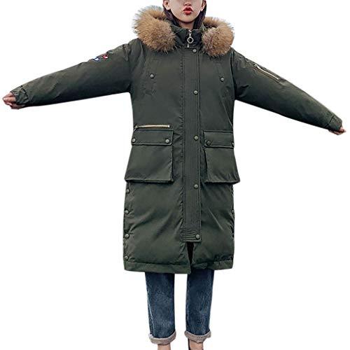 Dtuta Mäntel Für Damen, Ausverkauf Frauen Winter Sale Jacken Mantel Lange Verdicken warme Kapuze gepolsterten Mantel,Viele