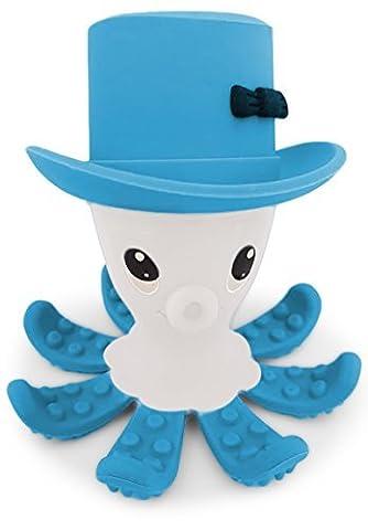 BPA bébé Teether gratuit, OFFRE MARS aide à stimuler Gommes et Apaise Tétines douleurs . Otto - Octopus . Choix de 5 couleurs vives . Doux, Food Grade Silicone . Sûr et amusant .