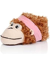 Women Monkey Slipper Ladies Cute Comfy Fluffy Feet Girls Novelty Animal Footwear