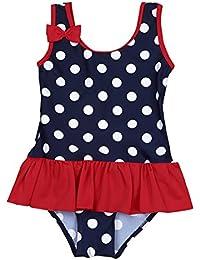 iiniim Baby Mädchen Tankini Bikini Einteiler Badeanzug Polka Dots Schwimmanzug Bademode