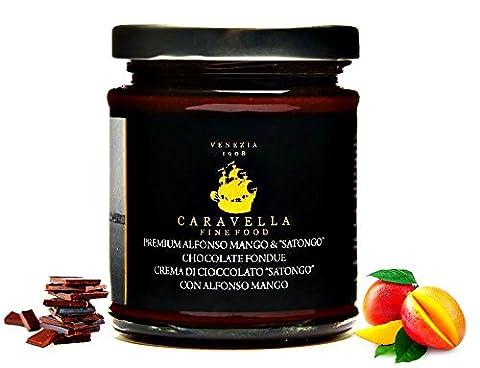 Caravella Premium Schokoladencreme mit Camerun Mango Gourmet Spread Schokoladenaufstrich 215