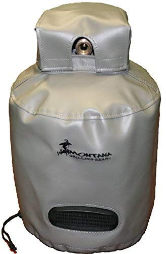 """Montana Grilling Gear Synthetic Leather Vinyl Ventilated Propane Tank Cover for 20lb Tank - Durable, Weatherproof, Water Resistant Material - 12.5\"""" X 18\"""" - GVT-22LB"""