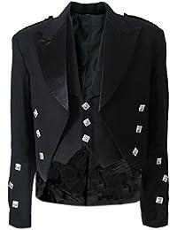 Tartanista Veste de kilt Prince Charlie - plusieurs tailles disponibles - long ou standard