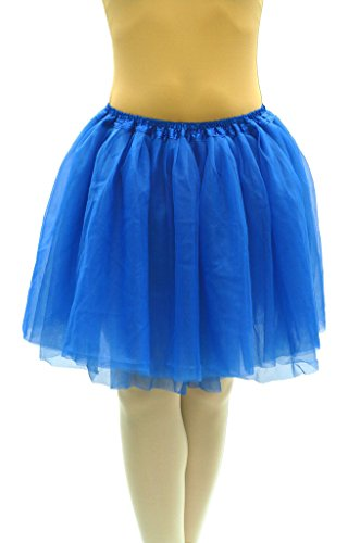 Dancina Damen Tutu 50er Jahre Retro Party Tüllrock Blau One Size