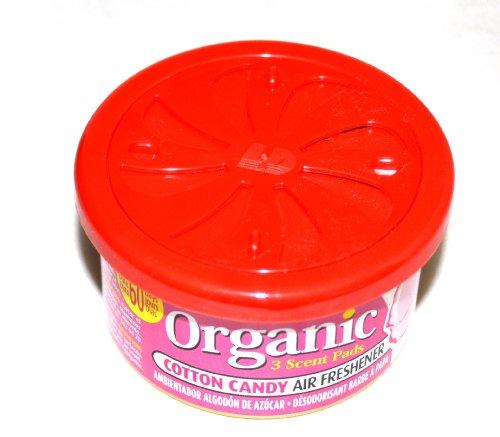 Preisvergleich Produktbild L&D Organic Scent Duftdose Cotton Candy - Zuckerwatte Lufterfrischer Autoduft