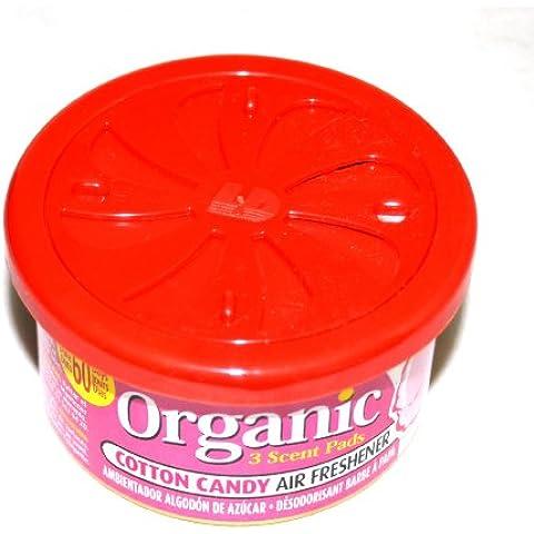 L & D Organic Scent Profumo barattolo Cotton Candy–Zucchero Filato Deodorante Auto