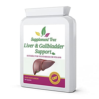 Liver & Gallbladder Support 60 Capsules - Advance All-In-One Natural Detox and Cleanse Supplement - Includes NAC, Alpha Lipoic Acid, Artichoke Extract & More - UK Manufactured Vegans from Supplement Tree