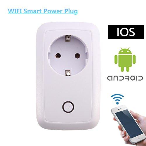 Intelligente Steckdose WLAN Steckdose MECO Smart Buchse mit Fernsteuerung inkl Zeitsteuerung Energiesparfunktion und USB Anschluss über Android/iOS-App Weiß EUR