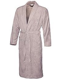 666b14f284 Bademantel ohne Kapuze mit Taschen für Herren Damen Wellnessmantel lang  Unisex Morgenmantel mit Gürtel aus 100% Mikrofaser Microfaser…