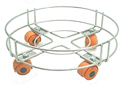 Escon Stainless Steel Cylinder Trolley With Wheels | Gas Trolly / Lpg Cylinder Stand