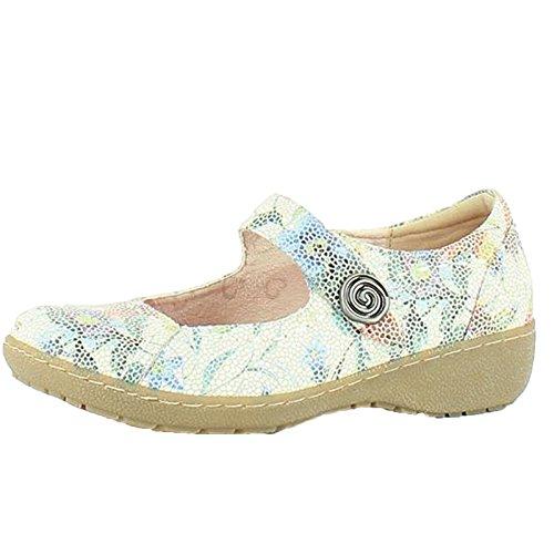 Heavenly Feet Scarlatto 3 Scarpe Bianco Floreale Floreale Bianco
