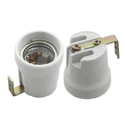 Preisvergleich Produktbild E27 Keramik Fassung 230V mit Bügel HLDR-E27-F