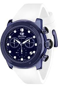 Glam Rock - AR5114 - AquaRock - Montre Mixte - Quartz Chronographe - Cadran Bleu - Bracelet Silicone Blanc