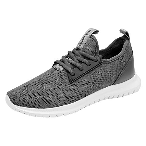 Lace Up Schuhe Herren Low Top Sneaker Mesh Turnschuhe Flache rutschfeste Sportschuhe Licht Atmungsaktiv Turnschuhe Fitness Trainers for Men Running Schuhe Männer Round Toe Shoes NHNX Joggen Outdoor