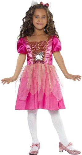 Original Lizenz Hello Kitty Kostüm Kittykostüm für Mädchen Katze Prinzessin Kleid Gr. 110-122 (S), 128-134 (M), Größe:M
