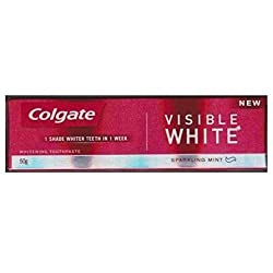 Colgate Toothpaste - Visible White (Sparkling Mint) (50g) (Pack of 3)