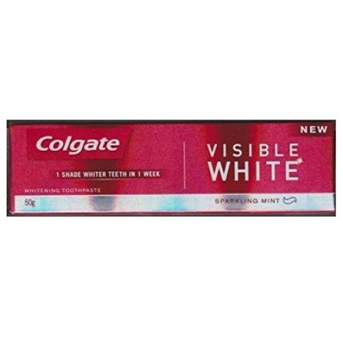 Colgate Visible White Sparkling Mint Toothpaste (50GM, Pack of 3)