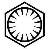 Star Wars Erste bestellen–VINYL Aufkleber Aufkleber–passen auf Laptops, Autos, Glas, Wänden, perfekt Geschenk für Fans Free P & P (schwarz) klein