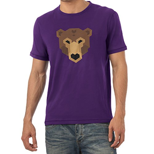 TEXLAB - Simple Bear - Herren T-Shirt Violett