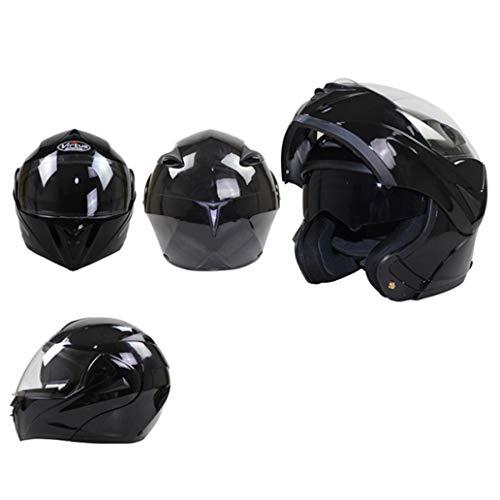 Casco da motociclista con visiera parasole interna, caschi da moto integrali a doppia lente per cappelli di sicurezza per motori antiappannamento per moto da cors