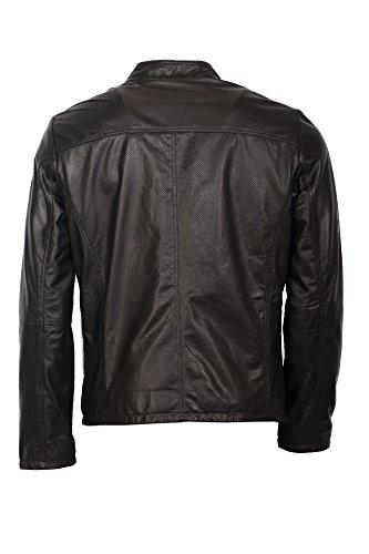 Ausdrucksstarke Lederjacke von Milestone in schwarz Echtleder Schwarz