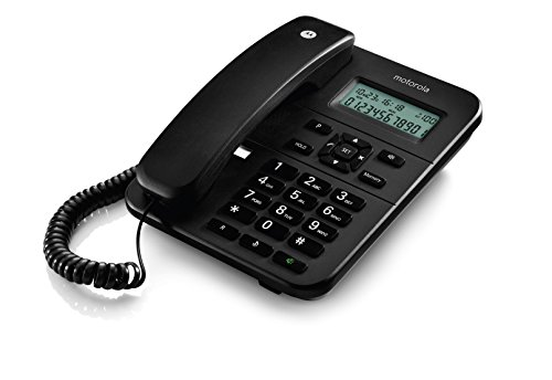 Motorola CT202i Corded Phone With Caller ID & Speaker Phone- Black