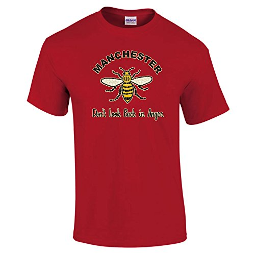 Manchester Worker Bee Don't Look Back In Anger T-Shirt Choice of Colours