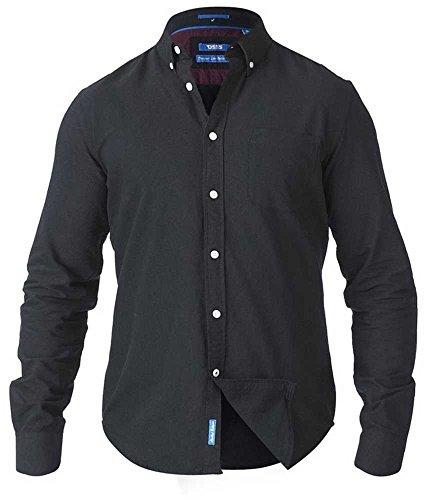 Duke D555 Mens Kingsize Big Tall Long Sleeve Classic Oxford Shirt Buttoned Down Collar