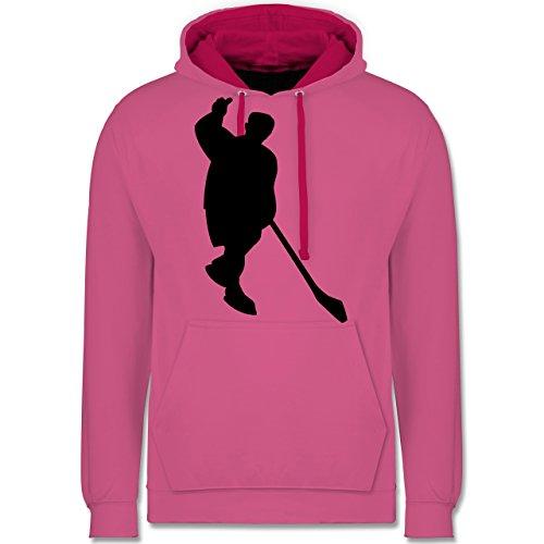 Eishockey - Eishockey - Kontrast Hoodie Rosa/Fuchsia