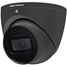SPRO 4K (8MP) 2.8mm Starlight HDCVI CCTV Eyeball Camera 50m Smart IR Built-in Microphone IP66 – Black (Refurbished)