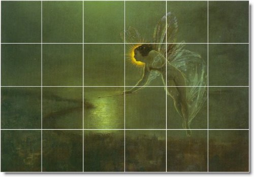 JOHN GRIMSHAW MITOLOGIA BACKSPLASH AZULEJO MURAL 16  48 X 182 88 CM CON (24) 12 X 12 AZULEJOS DE CERAMICA