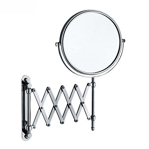 GBT Doppelseitige Stretch Bronze Spiegel faltbare Badezimmer Platz Base Lupe Schönheitsspiegel,6 Zoll -