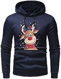 Magiyard Hommes Longue Manche L'automne Hiver Noël Décontractée Sweat-Shirt Hoodies Survêtements