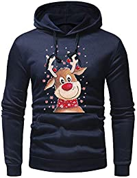 7db83e2f99e Magiyard Hommes Pull de Noel Homme Rouge Veste Hommes Sweat Shirt Homme Pull  Drole ou Noel