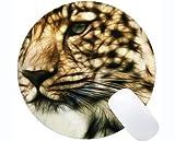 Yanteng Tappetino per Mouse Rotondo da Gioco, Mousepad con Base in Gomma Antiscivolo per ghepardi Selvatici