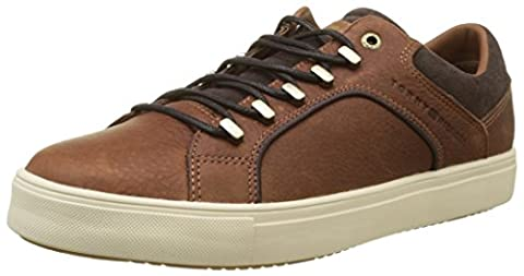Tommy Hilfiger Herren M2285OON 2A2 Sneakers, Braun (Cognac), 43